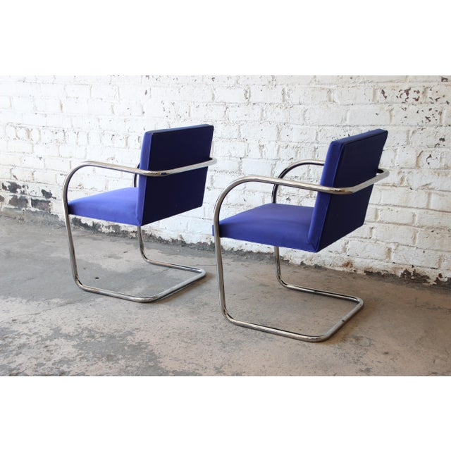 Knoll International Mies Van Der Rohe for Knoll International Brno Chairs - a Pair For Sale - Image 4 of 11