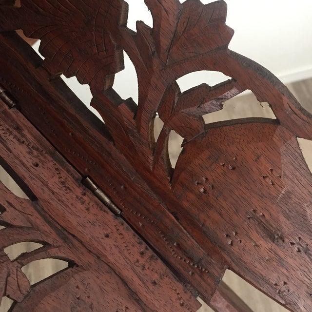 Floral Carved Chai Table - Image 8 of 9
