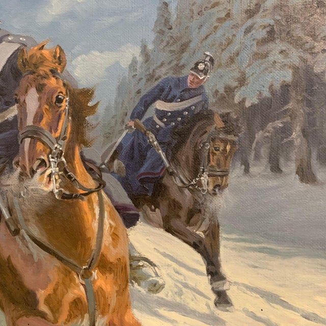 Karl Hansen Reistrup (1863-1929) Danish Dragoons For Sale - Image 4 of 12