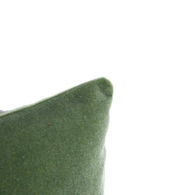 """Pollack Sedan Plush in Eucalyptus Pillow Cover - 20"""" X 20"""" Sage Green Heavy Velvet Cushion Case For Sale - Image 4 of 8"""