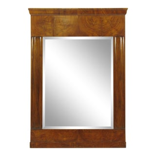 19th-C. Louis Philippe Walnut Mirror For Sale