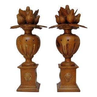 Monumental Spanish Wood Topiaries, a Pair