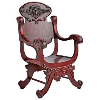 Hand-carved Green Man Armchair Circa 1885