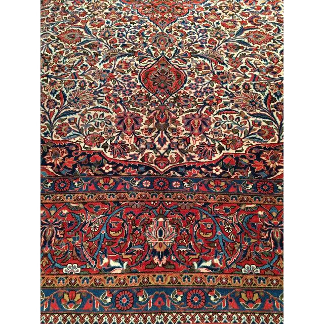 "Antique Persian Kashan Rug - 8'11"" X 11'7"" - Image 2 of 4"