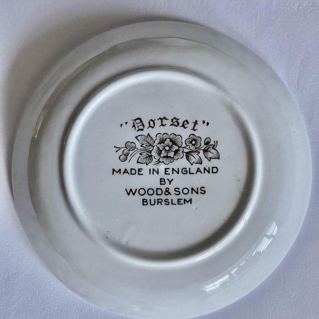 """Small English Ironstone Brown Transferware Plated """"Dorset"""" by Wood & Sons, Pair For Sale In Los Angeles - Image 6 of 8"""