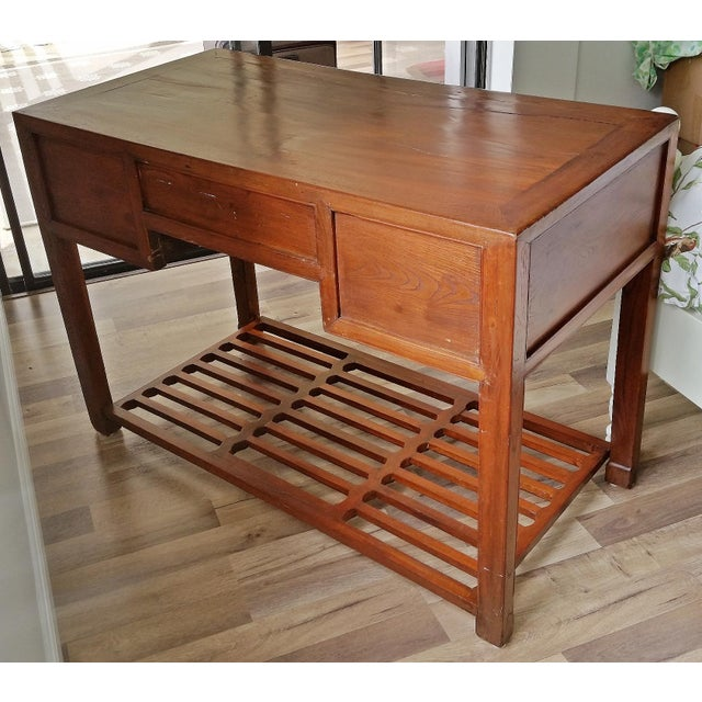 Early 20th Century Antique Asian Writing Desk For Sale - Image 5 of 11