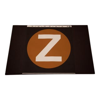 """New York City Subway """"Z"""" Train Sign For Sale"""