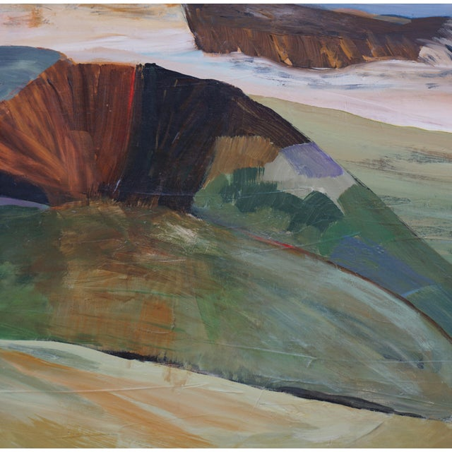 """Laurie MacMillan Laurie MacMillan """"Mud Season, Volcano Country"""" Landscape For Sale - Image 4 of 6"""