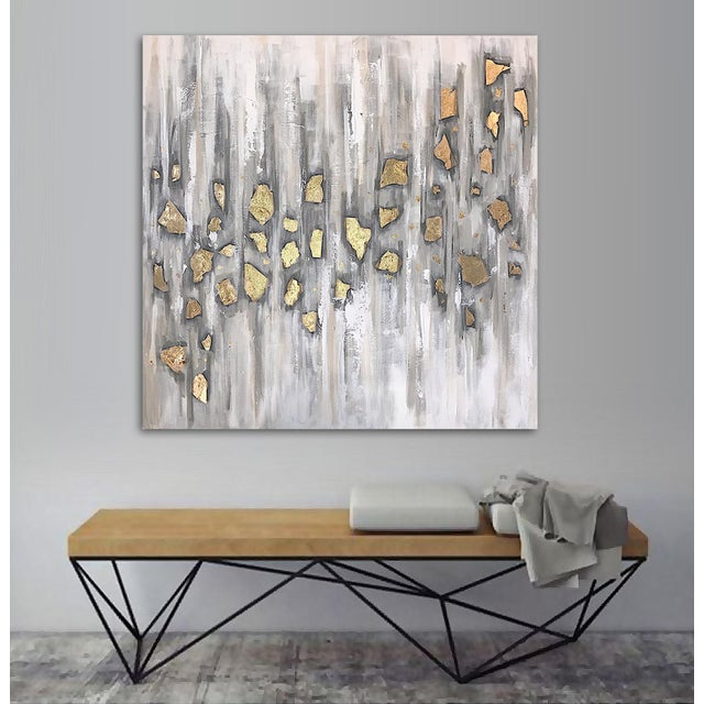 Abstract 'Midas' Original Abstract Painting by Linnea Heide For Sale - Image 3 of 10