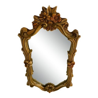French Polychrome Wall Mirror For Sale