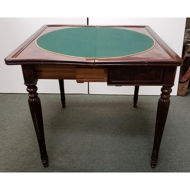 Early 20th Century English Regency Style Mahogany Flip Top Games Table For Sale In New Orleans - Image 6 of 9