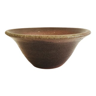 Rustic Studio Pottery Terra Cotta Serving Bowl For Sale