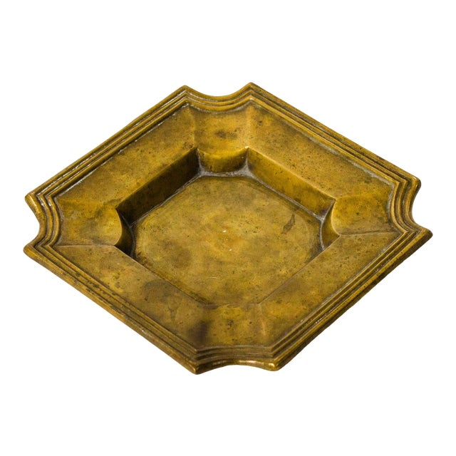 20th Century Art Deco Brass Catchall For Sale