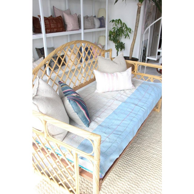 1970s Rattan Daybed Frame For Sale - Image 5 of 11