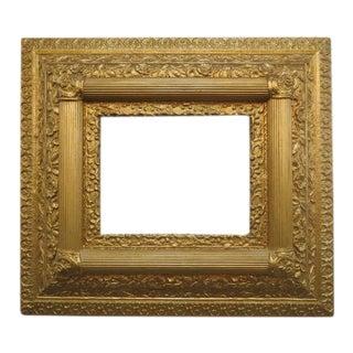 1890 Vintage Antique Gold Gilt Carved Frame For Sale