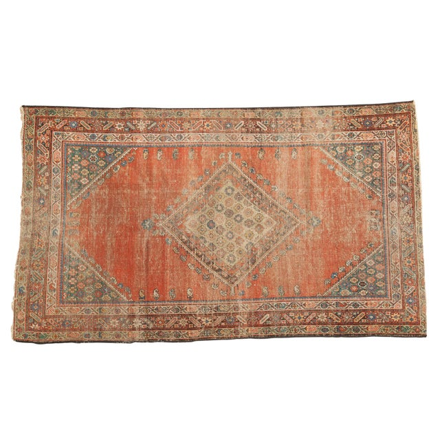 "Antique Fereghan Rug - 3'7"" X 6'1"" - Image 1 of 8"
