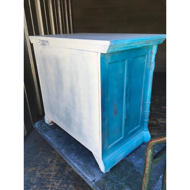 1980s Pulaski Furniture Nightstand W/ Crystal Pulls For Sale - Image 11 of 13