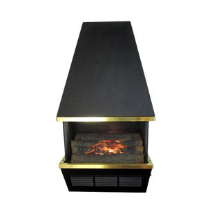 Mid-Century Wall Mounted Electric Fireplace For Sale