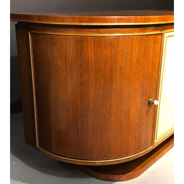 French Art Deco Sideboard or Credenza With Parchment Front, Monumental For Sale In New York - Image 6 of 13