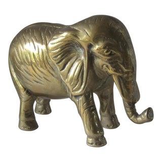 Vintage Brass Elephant Figurine For Sale