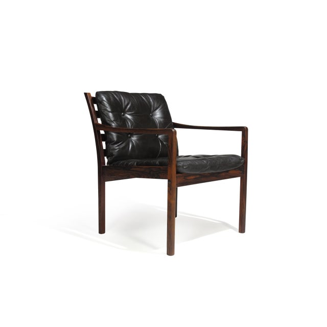 Ole Wanscher Ole Wanscher Rosewood Lounge Chairs in Original Leather - a Pair For Sale - Image 4 of 11