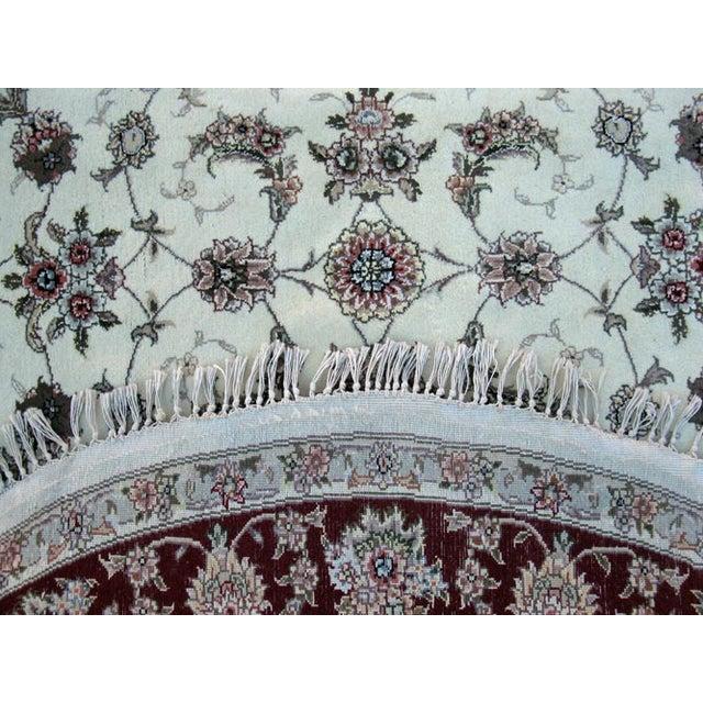 Hand Woven Silk Kashan Rug - 7' x 7' - Image 6 of 6