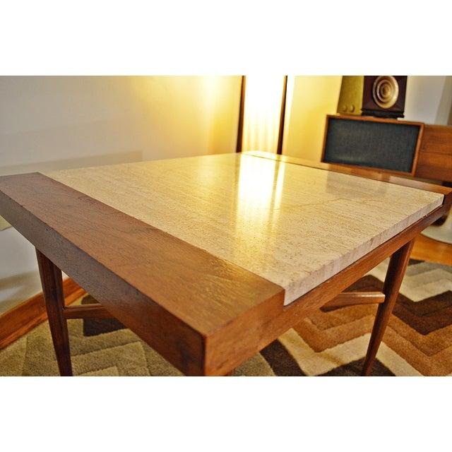 Mid Century Danish Style Italian Marble End Table - Image 6 of 7