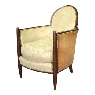 Fluted Front Art Deco Lounge Chair Attributed to Eugene Schoen For Sale