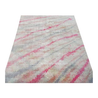 """Contemporary Colorful Hand-Knotted Hip Hop Rug - 6'5"""" X 10'4"""""""