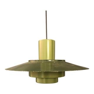 Vintage Danish Mid-Century Modern Style Green Pendant Lamp For Sale