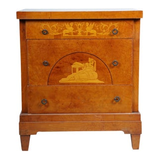 Late 19th/Early 20th Century Antique Baltic Neoclassical Style Chest of Drawers For Sale