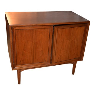 1960s Mid-Century Modern Kipp Stewart and Stewart MacDougall Drexel Declaration Walnut Record Cabinet For Sale