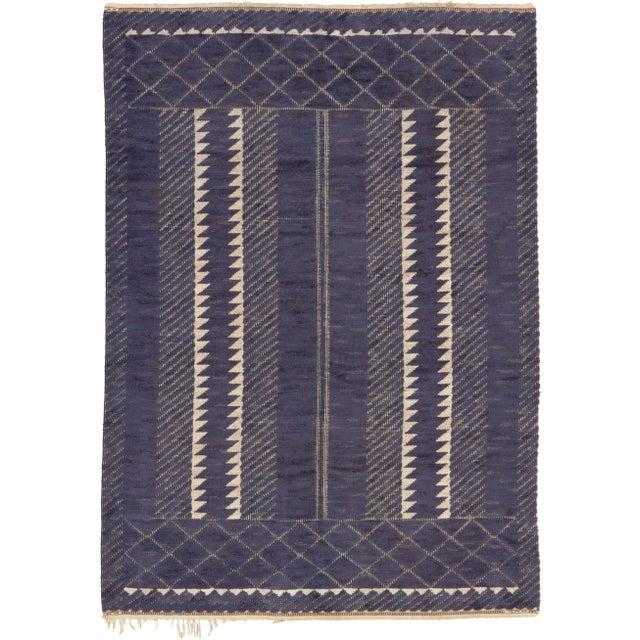 """Paris, black"" Swedish Pile & Flat Weave Carpet Sweden, ca. 1948 Initialed: AB MMF BN (AB Märta Måås-Fjetterström, Barbro..."