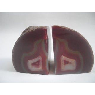 Red Multi-Colored Geode Bookends- a Pair Preview