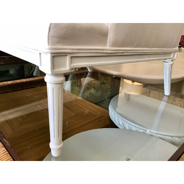 White French 1940's Louis XVI Club Chairs in New Sunbrella Upholstery- a Pair For Sale - Image 8 of 11