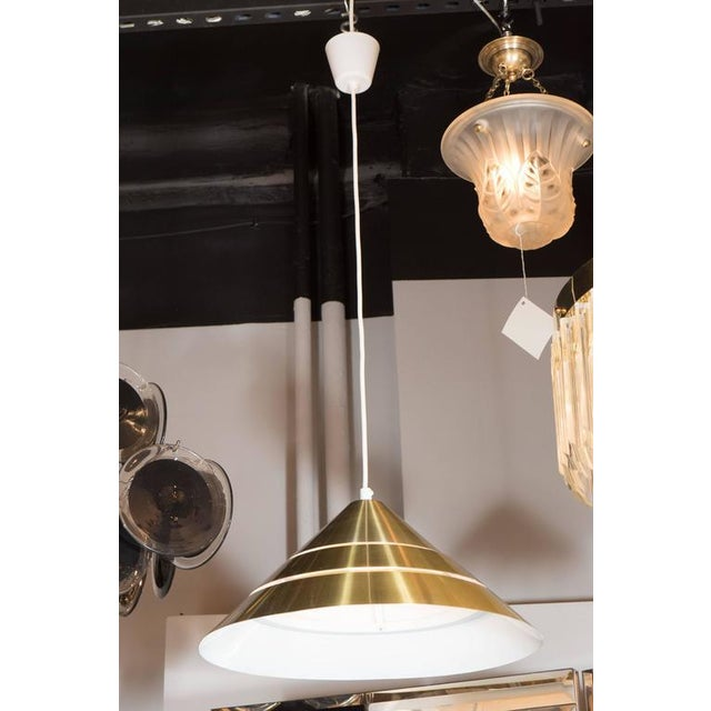 Mid-Century Brass Cone Ceiling Pendant by Hans-Agne Jakobsson For Sale In New York - Image 6 of 8
