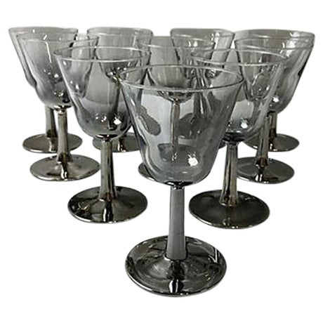 French Ombre Mercury Cordials - Set of 10 For Sale