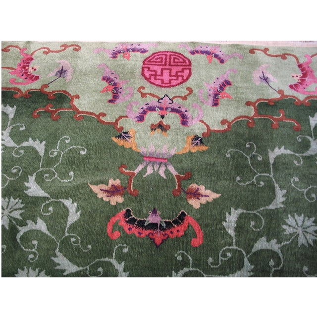 1920s Antique Chinese Art Deco Rug For Sale - Image 5 of 9
