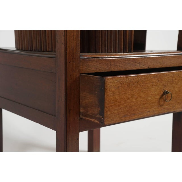 Mahogany Tambour Stand, England, Circa 1790 For Sale - Image 9 of 11