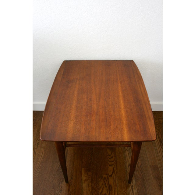 Walnut 1960s Danish Modern Bassett Surfboard End Tables - a Pair For Sale - Image 7 of 12