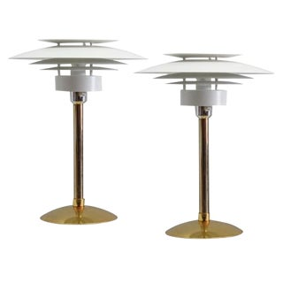 Scandinavian Table Lamps - A Pair