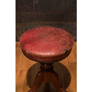 Regency Style Piano Stool With Leather Seat Preview