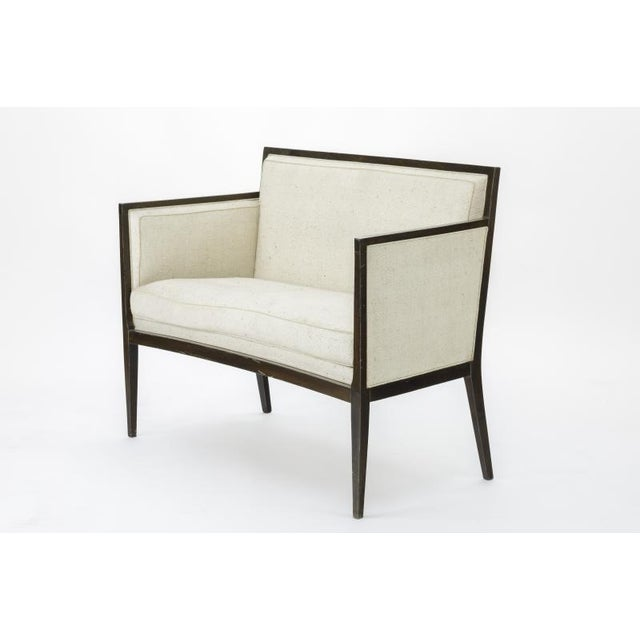 Jean Michel Frank Adolphe Chanaux Jean Michel Frank Style Refined Classic 2 Seats Settee For Sale - Image 4 of 6