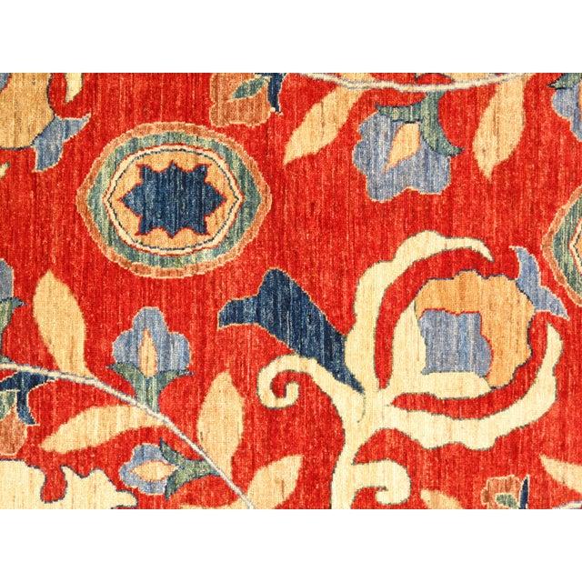 "Boho Chic Pasargad N Y Super Kazak Lamb's Wool Rug - 5'8"" X 7'8"" For Sale - Image 3 of 5"
