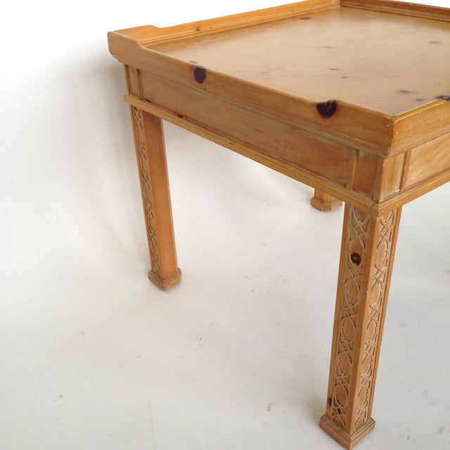 Century Furniture Knotty Pine Side Table - Image 6 of 6