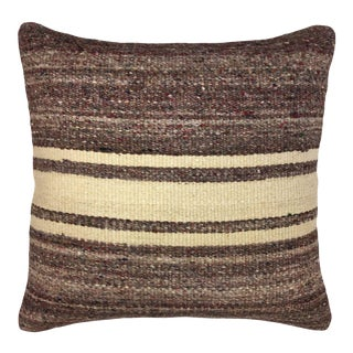 """Mutted Stripe Vintage Kilim Pillow 
