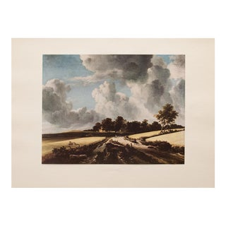 Wheat Fields by Ruisdael Vintage Lithograph For Sale