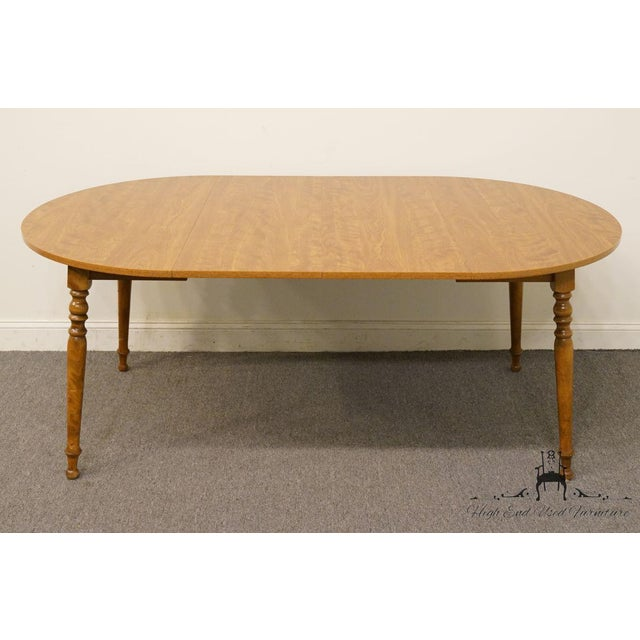 Late 20th Century 20th Century British Colonial Ethan Allen Heirloom Nutmeg Dining Table For Sale - Image 5 of 9
