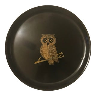 Couroc Plate With Owl. For Sale