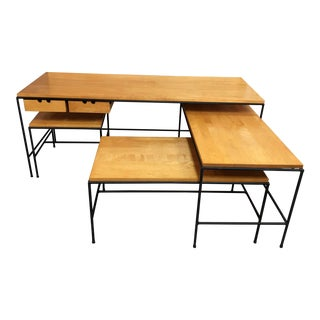 1950s Mid-Century Modern Planner Group Nesting Tables - Set of 4 For Sale
